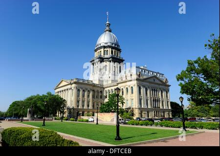 Illinois State Capitol Building Springfield Illinois - Stock Photo