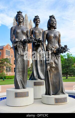 Miss America Statues on Oklahoma City University Campus - Stock Photo