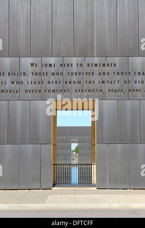 Wall of Oklahoma City National Memorial Bombing Site Alfred P Murrah Building - Stock Photo