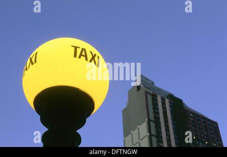 Taxi sign. New York City, USA - Stock Photo