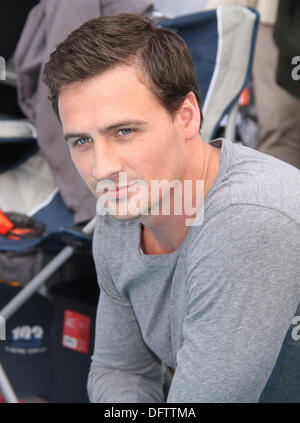 New York, New York, USA. 8th Oct, 2013. Olympic gold medal winner RYAN LOCHTE attends swimmer DIANE NYAD attempt - Stock Photo