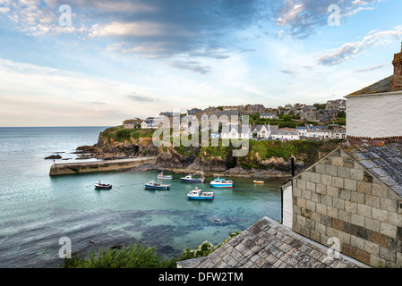 Port Isaac an historic fishing port on the north coast of Cornwall - Stock Photo