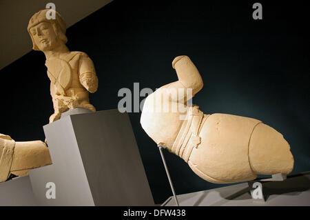 Iberian sculpture, Cerrillo Blanco archaeological site. Porcuna. Jaen Museum. Jaén,  Andalusia, Spain - Stock Photo