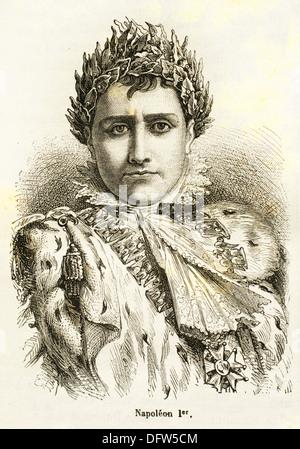France, History, 19th Century. Napoleon Bonaparte Italian: Napoleone di Buonaparte, 15 August 1769 - 5 May 1821 - Stock Photo