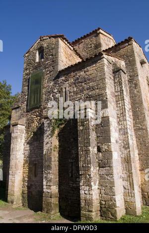 San Miguel de Lillo, pre-romanesque architecture (VIII-Xth centuries). Oviedo, Principado de Asturias. Spain. - Stock Photo
