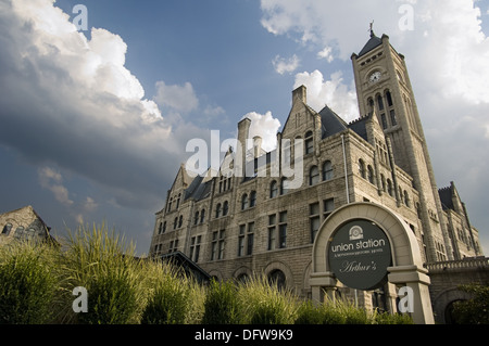 Union Station Wyndham historic hotel, Nashville. Tennessee, USA - Stock Photo