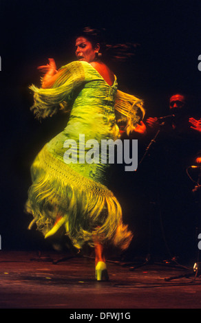 Aurora Vargas.Flamenco singer and dancer. Lope de Vega theatre. Seville, Andalusia, Spain - Stock Photo