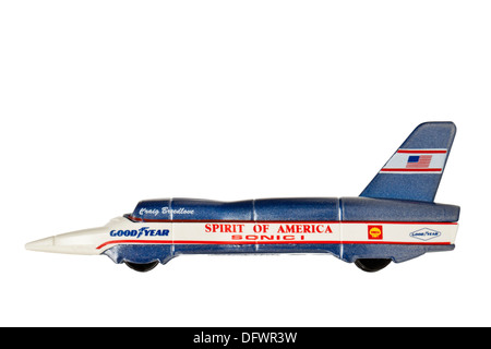 'Spirit of America Sonic 1', the jet powered car used by Craig Breedlove to break the land speed record 4 times - Stock Photo