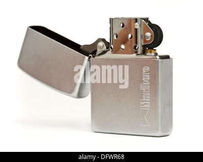 Marlboro branded cigarette lighter by Zippo - Stock Photo