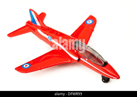 Matchbox (1991) diecast model replica of the BAe Hawk Trainer Mk1 aeroplane, as used by 'The Red Arrows' (RAF Aerobatic - Stock Photo