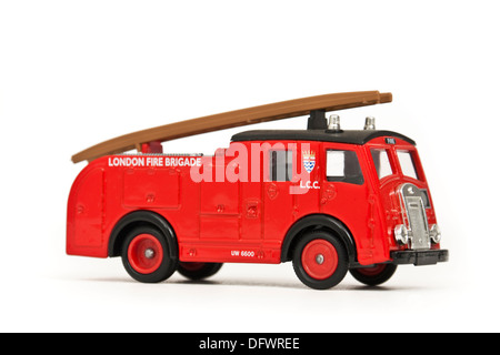 London Fire Brigade engine replica / diecast model toy - Stock Photo