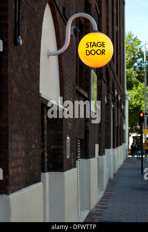 Stage door of the Old Vic is a theatre, Webber Street, London, England, UK. - Stock Photo