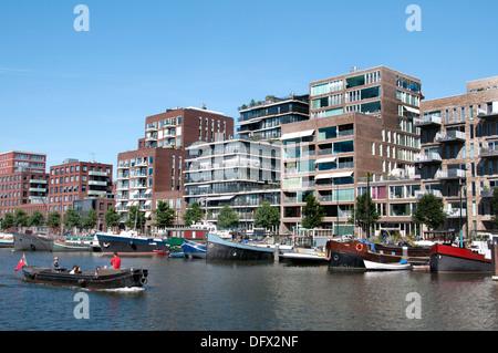 Westerdock Amsterdam Netherlands modern architecture - Stock Photo