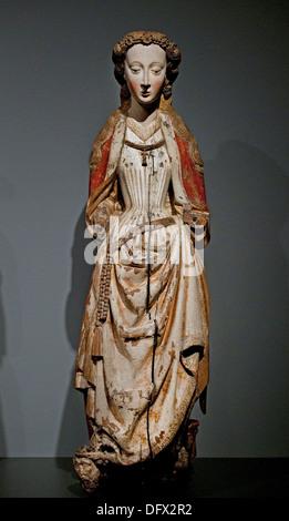 Saint Barbara 1460-1480 Master of the Statues of Koudewater 's Hertogenbosch Netherlands - Stock Photo