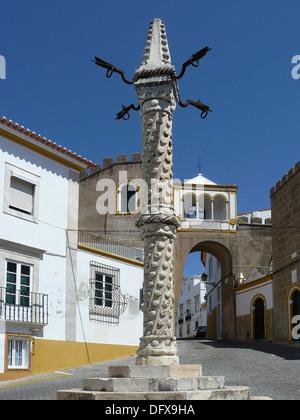 Elvas Portugal  Pelourinho in the historic town of Elvas - Stock Photo