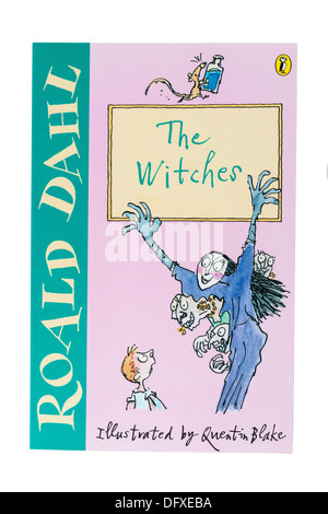 A Roald Dahl childrens book called The Witches on a white background - Stock Photo