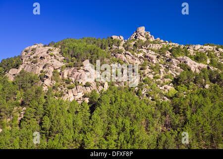 The Field of the Dead in La Pedriza Regional Park Cuenca Alta del Manzanares Madrid Spain - Stock Photo