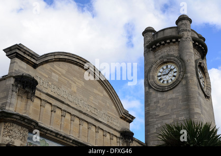 Clock tower of the Horniman museum in forest Hill - London, England - Stock Photo