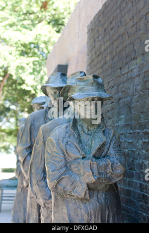 Example of a Depression line from depression era United States (Roosevelt Memorial, Washington, DC) - Stock Photo