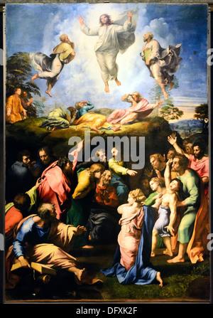 Transfiguration by Raffaello Sanzio (Urbino 1483 - Roma 1520) altarpiece fo the Cathedral of Narbonne (France), - Stock Photo