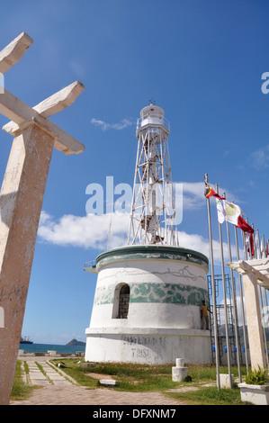 Dili (East Timor): the lighthouse in the Farol neighborhood - Stock Photo