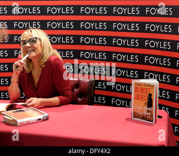 Foyles book shop, Charing Cross Road, London, UK. 10th October 2013. Author Helen Fielding signs copies of new Bridget - Stock Photo