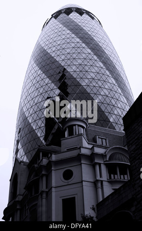 St Marys Axe London EC3 - Stock Photo