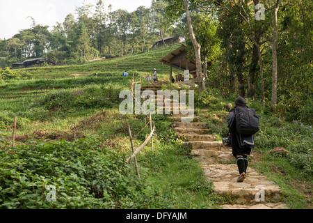 Black Hmong village Catcat, Sa Pa, Lao Cai, Vietnam - Stock Photo