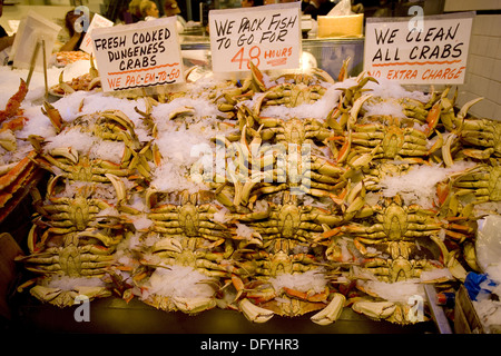Pike´s Place Market, Dungeness Crab - Stock Photo