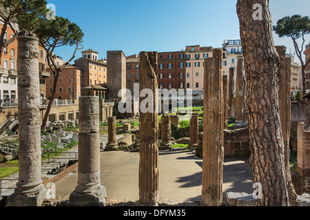 Largo di Torre Argentina is a square in Rome, Lazio, Italy, Europe - Stock Photo
