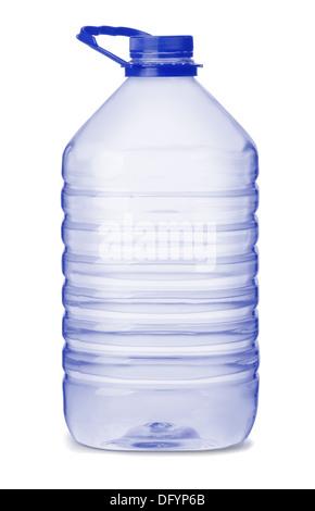 Large water bottle isolated on white - Stock Photo