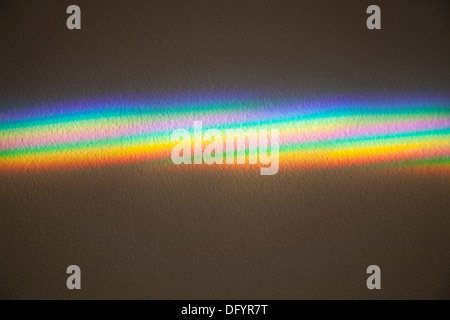 Prism effect on a plain background - Stock Photo