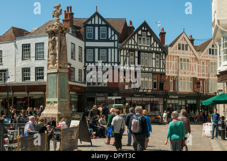 Old City Square, Canterbury, Kent, England - Stock Photo
