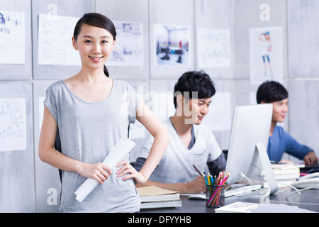 Office workers at work - Stock Photo
