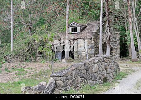 Abandoned stone house near Mudgeeraba  Qld Australia - Stock Photo