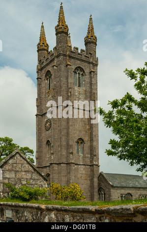St Pancras Church, Widecombe-in-the-Moor, Devon, England - Stock Photo