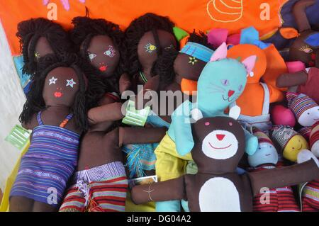 Dili (East Timor): some Atauro island´s rag dolls, sold at a public fair in occasion of the Independence Restoration - Stock Photo