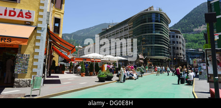 Andorra - capital city Andorra la Vella. - Stock Photo