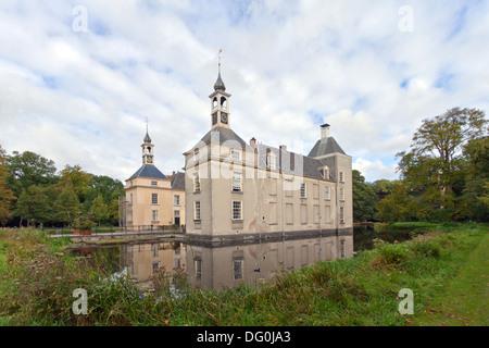 Warmond Castle, a Dutch 18th-century manor house near Warmond, South Holland, The Netherlands - Stock Photo