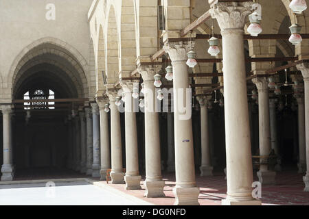 Amr Ibn al´As mosque the first and oldest ancient Mosque ever built on Egypt  642 AD - 21 AH, also known as Taj - Stock Photo