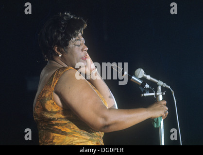 ELLA FITZGERALD  (1917-1996) American jazz singer about 1968 - Stock Photo