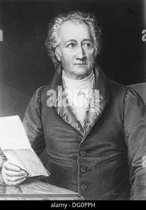 Johan Wolfgang von Goethe, german poet, novelist, playwright and natural philosopher (1749-1832) - Stock Photo