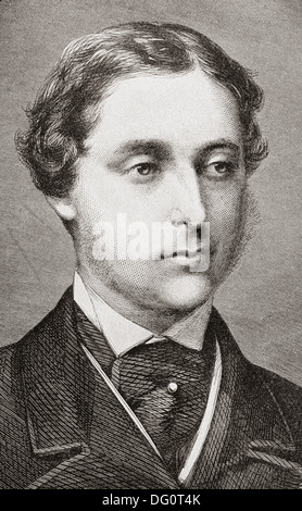 Albert Edward, Prince of Wales, and the future King Edward VII , 1841 – 1910, at the time of his marriage in 1863. - Stock Photo