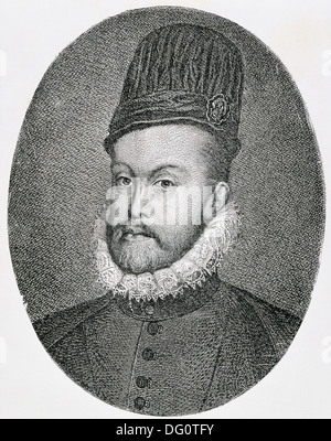 Philip II, king of Spain between 1556 and 1598 and King of Portugal (as Philip I) between 1580 and 1598 (1527-1598) - Stock Photo