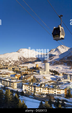 Sestriere Ski Resort Site of 2006 Winter Olympics, Turin Province, Piedmont, Italy - Stock Photo