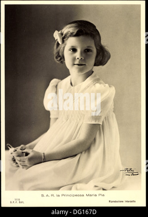 Ak S.A.R. la Principessa Maria Pia de Italia; - Stock Photo