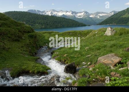 Ritom lake, Val Piora, Canton Ticino, Switzerland, Europe - Stock Photo