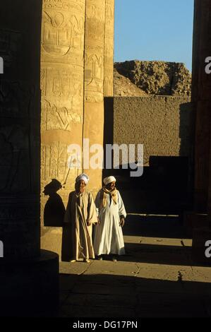 guards in the hypostyle hall, Kom Ombo Temple, Egypt, Africa - Stock Photo