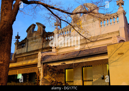 terraced houses, Fitzroy, Melbourne, Australia - Stock Photo