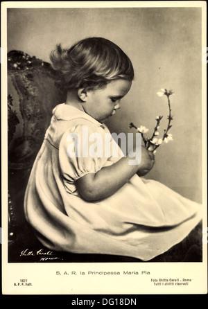 Ak S.A.R. la Principessa Maria Pia di Savoia d'Italia; - Stock Photo